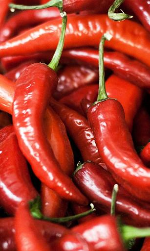 Hot Pepper with rain drops WP