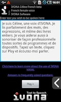 Screenshot of IVONA Céline French beta