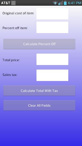 Calculate Percent Off