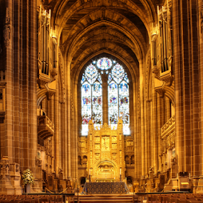 The Altar of Liverpool Anglican Cathedral by Mandy Jervis - Buildings & Architecture Places of Worship ( liverpool anglican cathedral merseyside uk altar gold worship religion religious merseyside uk,  )