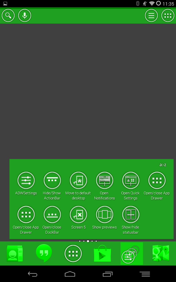 White and Green Launcher Theme - screenshot