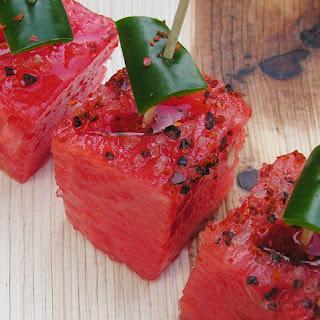 Watermelon Chili Sliders.