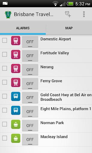 Brisbane Travel Alarm