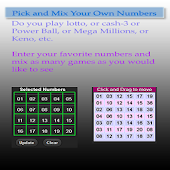 Lotto Game Numbers Mix