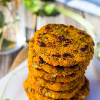 Sweet Potato & Millet Cakes with Curry Cilantro Mayo.