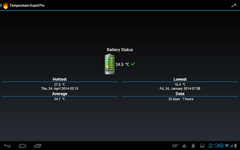 Battery Temperature Guard free - screenshot thumbnail