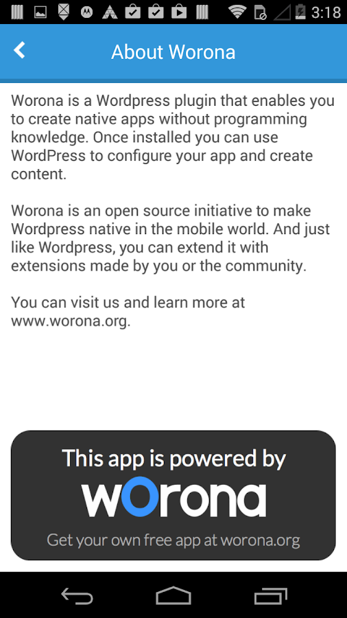 Worona Blog- screenshot