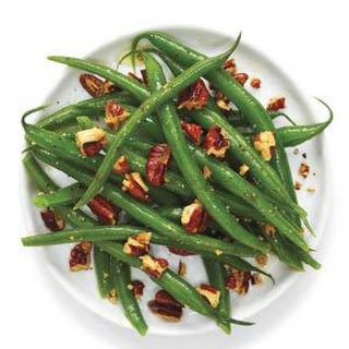 Honey Mustard Green Beans with Pecans