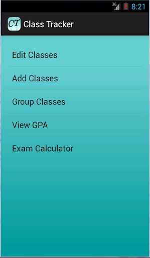Class Tracker - GPA Calculator