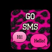 GO SMS - Leopard Sparkles