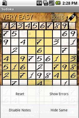 Sudoku - brain training- screenshot