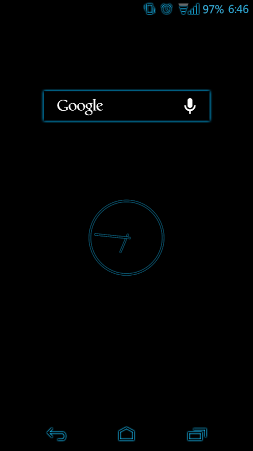 Blue Glow CM11 Theme - screenshot