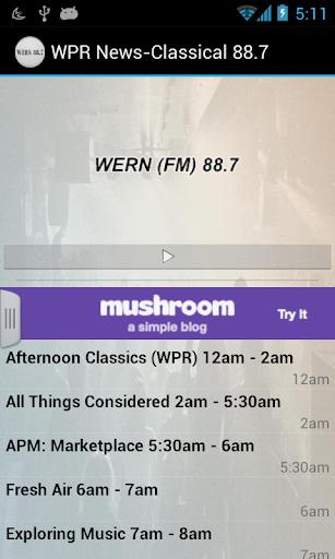 88.7 WPR News Classical-WERN