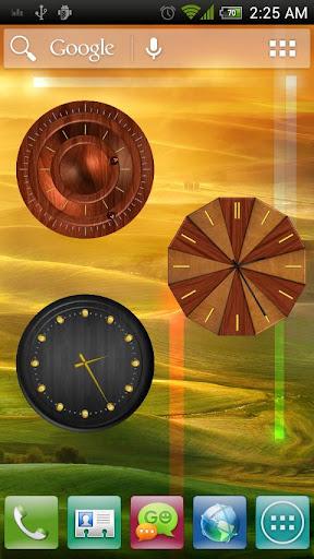 Analog Clock - Wood Theme 2