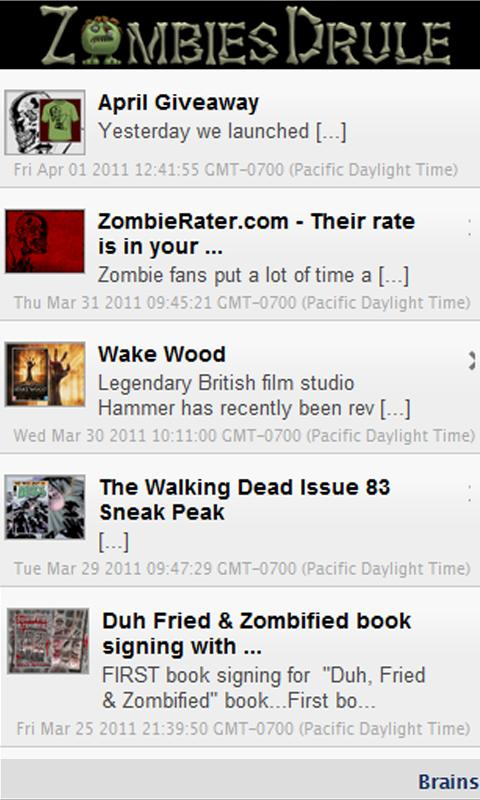ZombieFeed - screenshot
