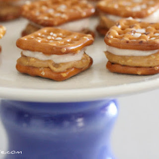 Sweet Peanut Butter and Creamy Jelly Pretzel-wiches.