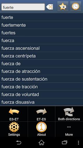 Spanish Estonian dictionary