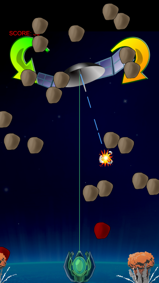 LASER SHIELD asteroids defense- screenshot