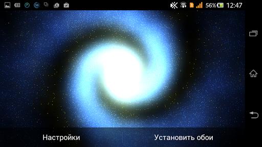 3D Galaxy live wallpaper для планшетов на Android