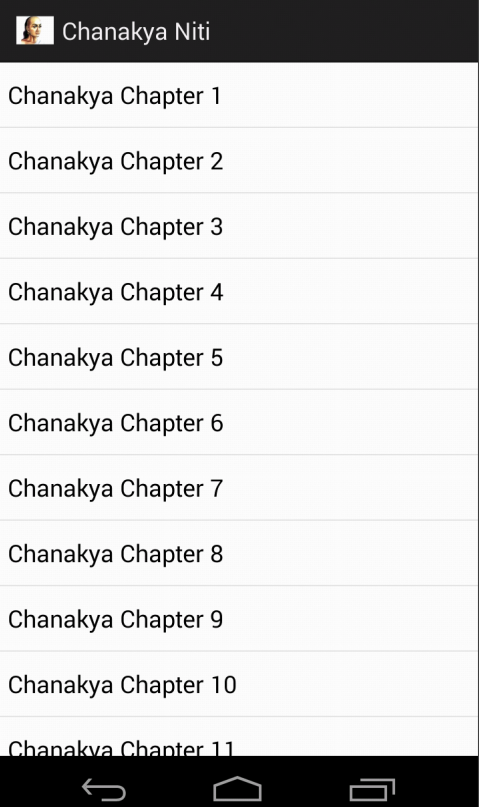 Screenshots of Chanakya Niti (hindi-Eng) for Android