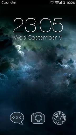 Cloudy Grey Galaxy Sky Theme
