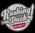 Logo of Rushing Duck Orangeweiss