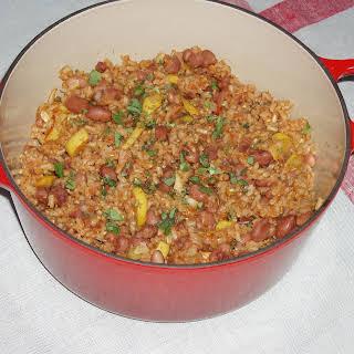 Pueblo Bean and Rice Casserole.