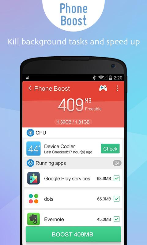 Screenshots of Clean Master x86 (Intel CPU) for Android