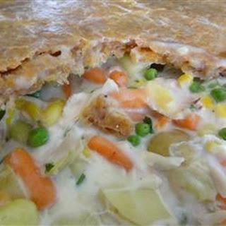 Chicken Pot Pie with Cheddar Crust.