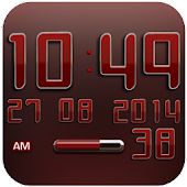 Digi Clock Widget Red Star
