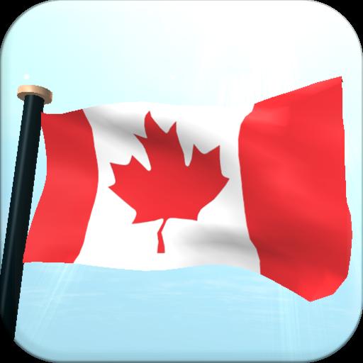 Canada Flag 3D Free Wallpaper