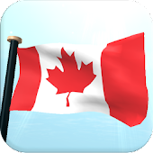 Canada Flag 3D Free Wallpaper
