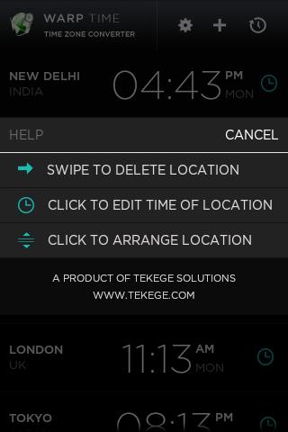 【免費生產應用App】Warp - Time Zone Converter-APP點子