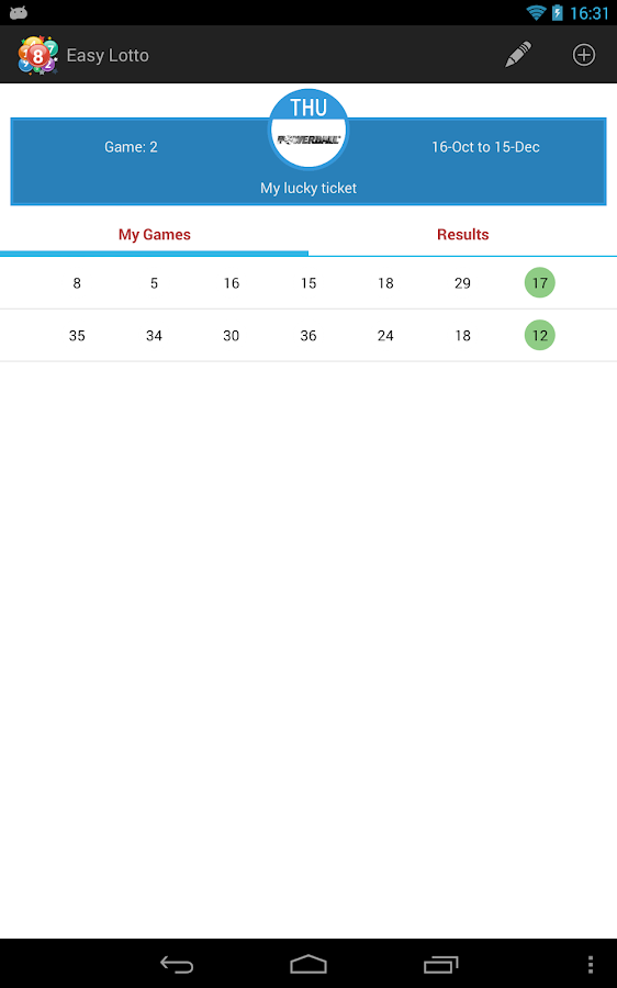 Easy Lotto - Oz Lotto resutls - screenshot