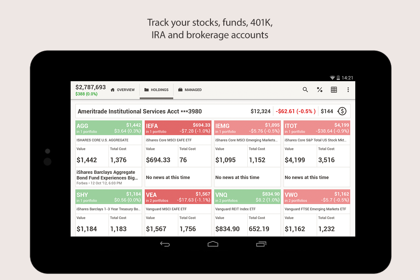 SigFig - Investment Optimizer - screenshot