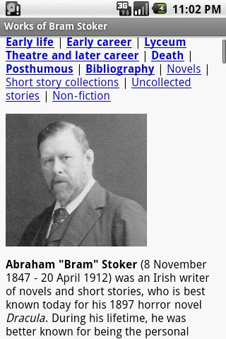 Works of Bram Stoker - screenshot