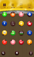 Screenshot of ChocoChoco LINE Launcher theme