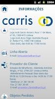 Screenshot of IZI Carris