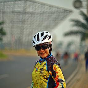 Biker by Wawan Adi - People Portraits of Women