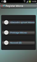 Screenshot of Registar lekova