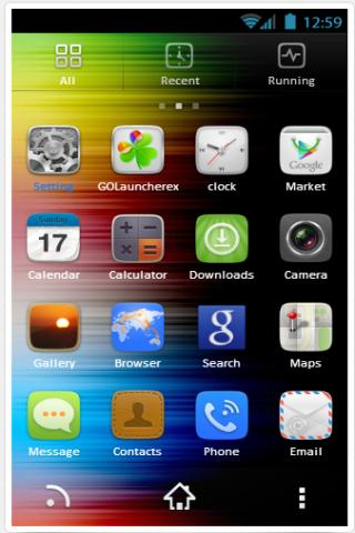 Rainbow GO Launcher EX Theme
