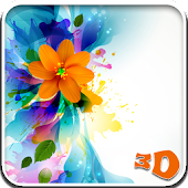 Colored Flowers Live Wallpaper