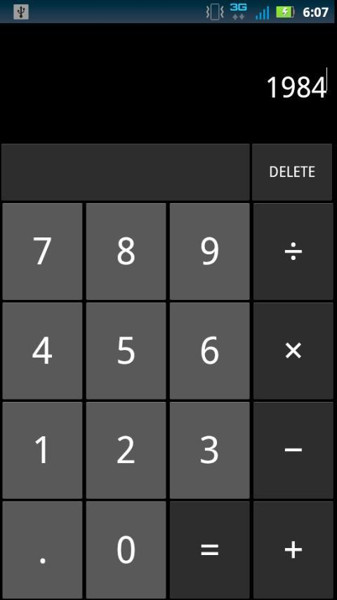 Jelly Bean Calculator - screenshot