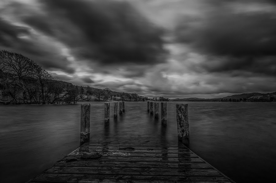 Coniston Jetty by Graham Kidd - Black & White Landscapes