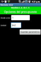 Screenshot of Neodata Visor PU