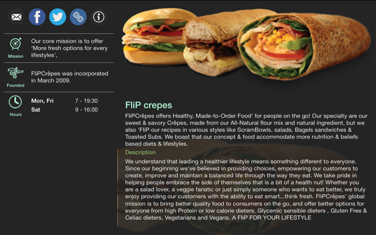 FliP crepes- screenshot