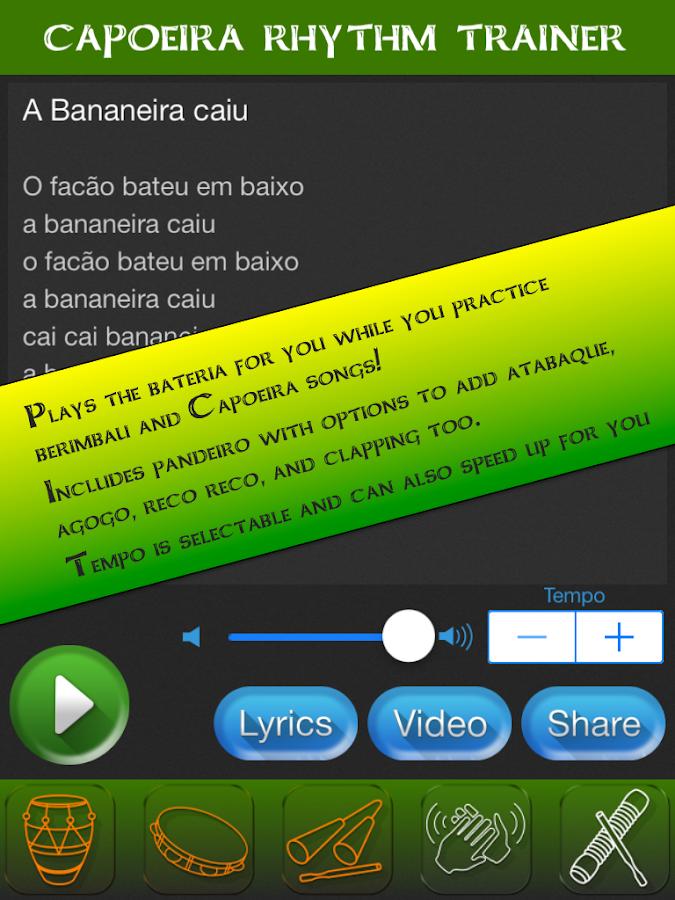 Lyric brazil song lyrics : Capoeira Brazil Rhythm Trainer - Android Apps on Google Play