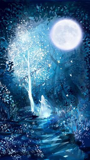 white moon live wallpaper