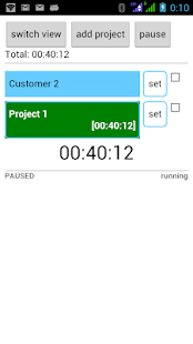 Project Time Tracker- screenshot thumbnail
