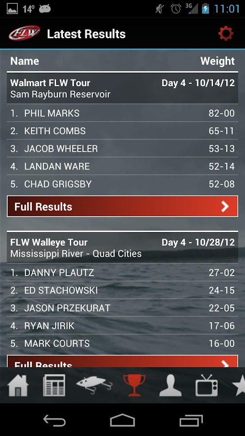FLW Tournament Bass Fishing- screenshot